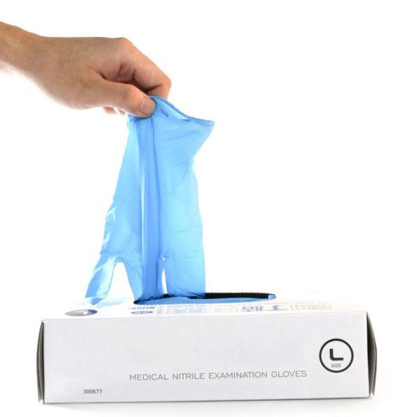 Powder Free Nitrile Gloves and box